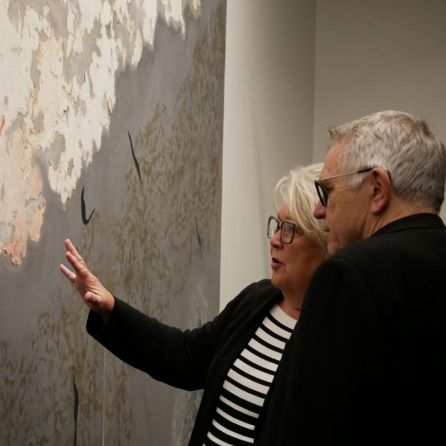 The Mennello Museum of American Art couple observing art