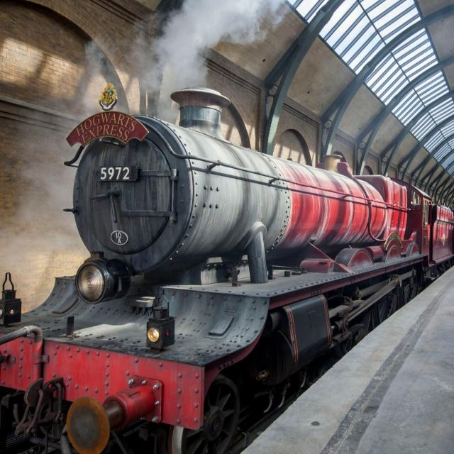 The Hogwarts Express at The Wizarding World of Harry Potter - Diagon Alley at Universal Orlando Resort.
