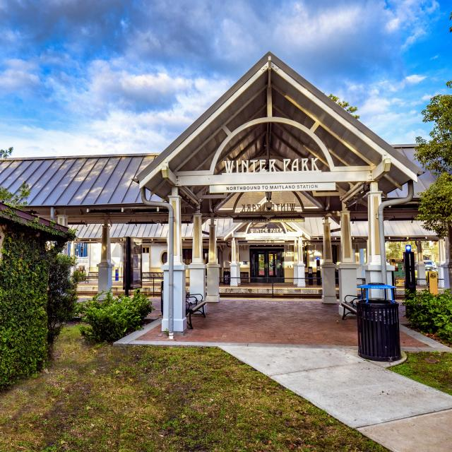 Train station in Winter Park