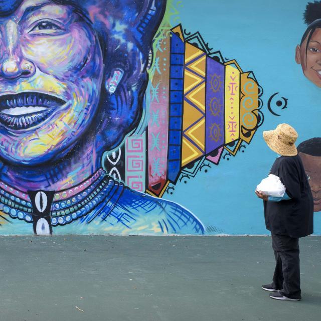 Mural of Zora Neale Hurston in Eatonville
