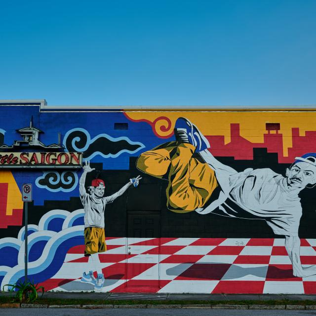 Mural on the side of Little Saigon in the Mills 50 area of Orlando