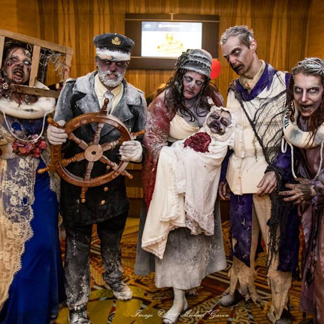 Guests dressed as zombies at Spooky Empire in Orlando