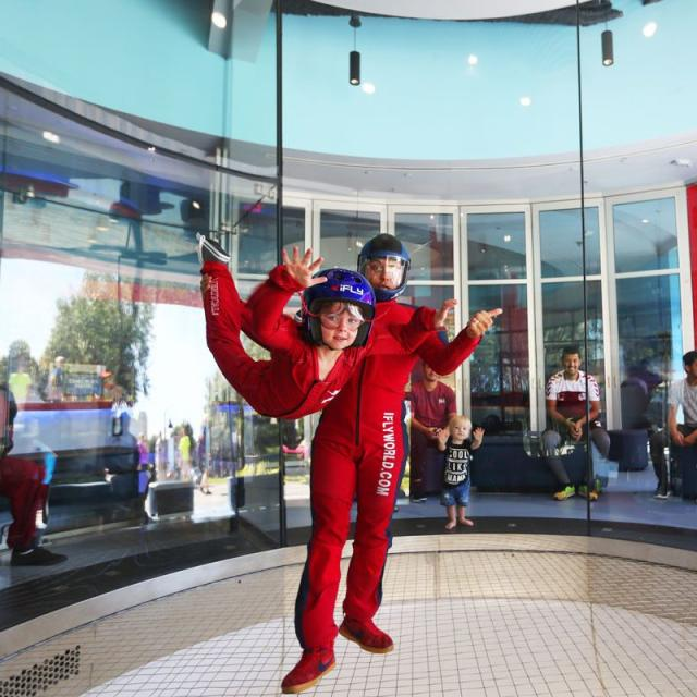 Influencer Katie Ellison and her family at iFLY Orlando