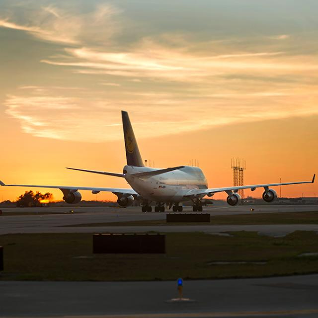 Orlando International Airport airplane on the ground