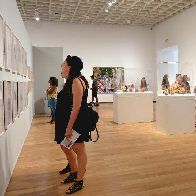 Orlando Museum of Art visitors looking at Cottrell and Lovett collection