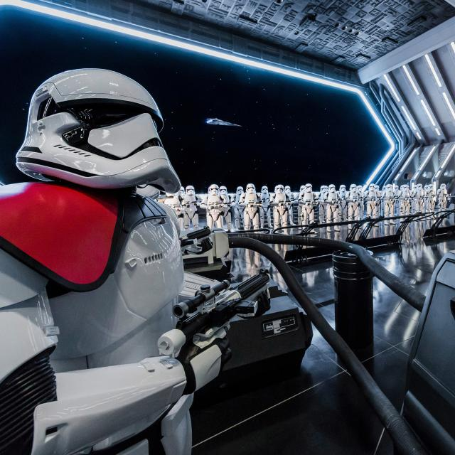 RISE OF THE RESISTANCE -- Disney guests will traverse the corridors of a Star Destroyer and join an epic battle between the First Order and the Resistance – including a face-off with Kylo Ren – when Star Wars: Rise of the Resistance opens Dec. 5, 2019 at Walt Disney World Resort in Florida and Jan. 17, 2020 at Disneyland Resort in California. At 14 acres each, Star Wars: Galaxy's Edge at Disneyland Park and Disney's Hollywood Studios is Disney's largest single-themed land expansion ever. (Joshua Sudock/Disney Parks)