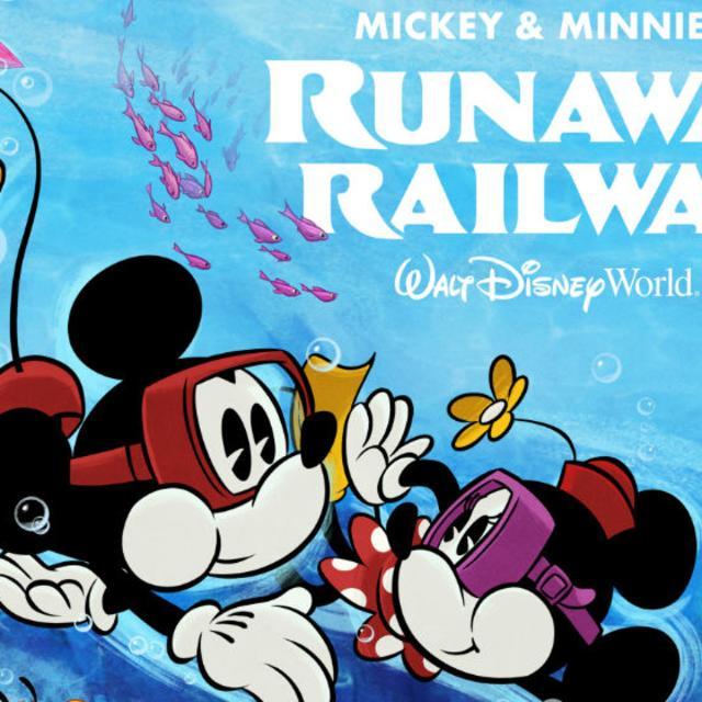 An illustration of Mickey & Minnie's Runaway Railway at Disney's Hollywood Studios