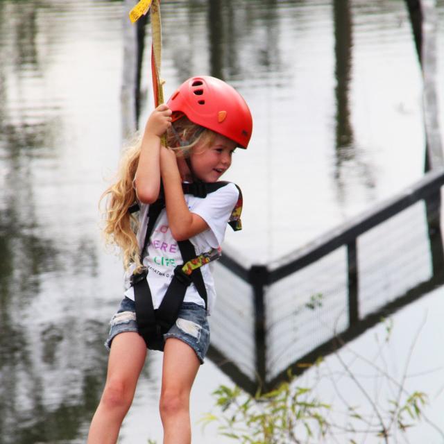 Influencer Katie Ellison and her family go ziplining