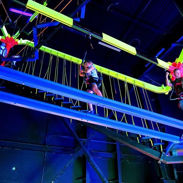 Influencer Katie Ellison and her family at Wonderworks