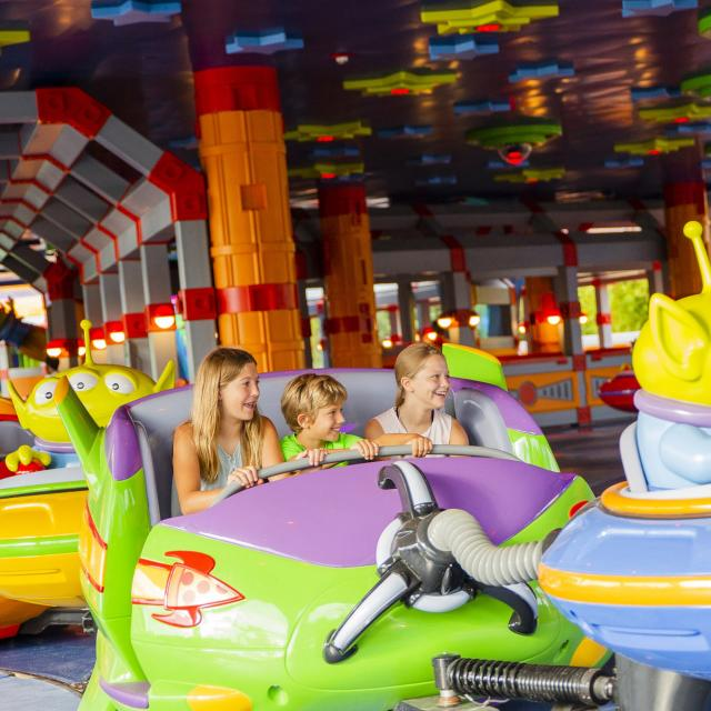 Alien Swirling Saucers attraction in Toy Story Land at Disney's Hollywood Studios.