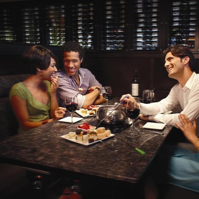 The Melting Pot - Orlando, two couples having dinner
