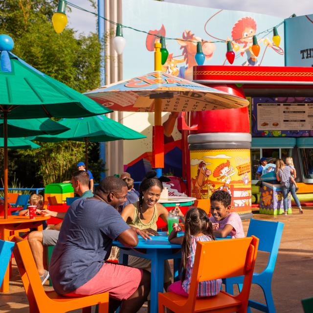 Woody's Lunch Box located in Toy Story Land at Disney's Hollywood Studios