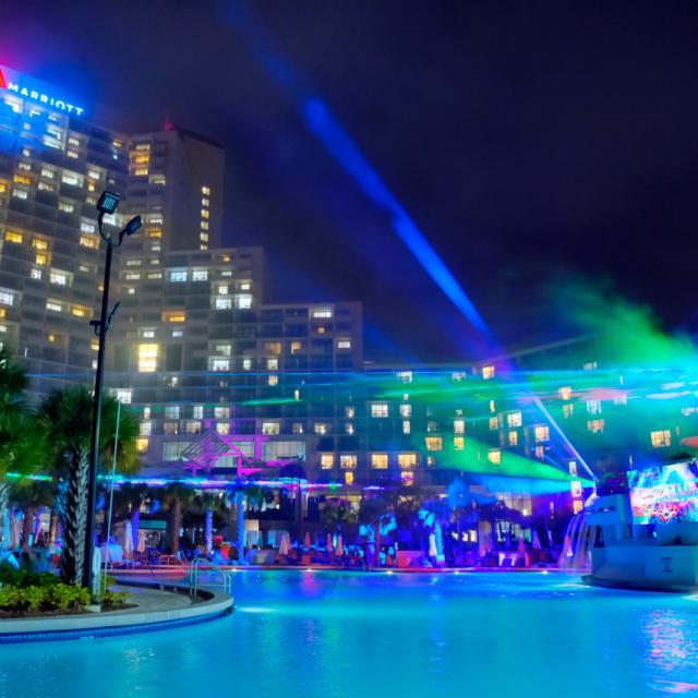 Orlando World Center Marriott laser show