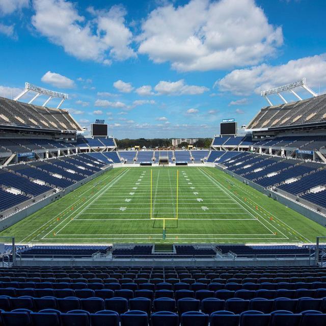 Camping World Stadium setup for a football game