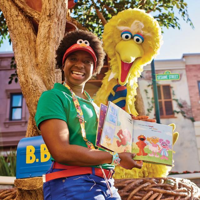 Big Bird at Sesame Street Land at SeaWorld Orlando