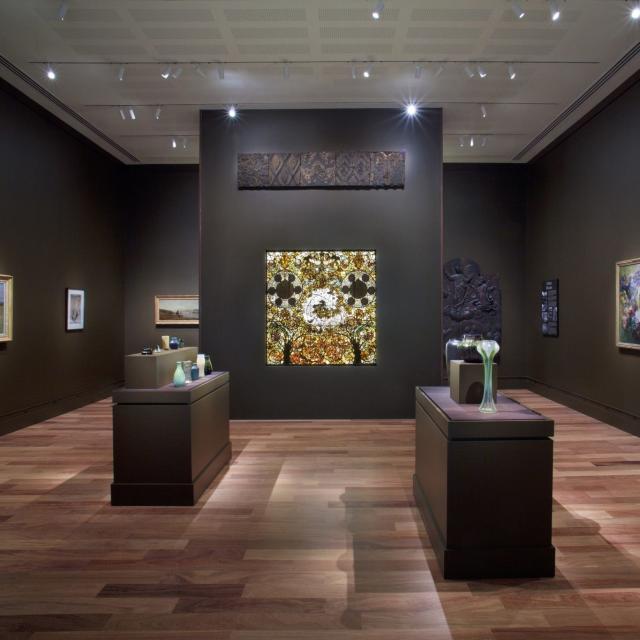 The Charles Hosmer Morse Museum of American Art exhibit in Laurelton Hall