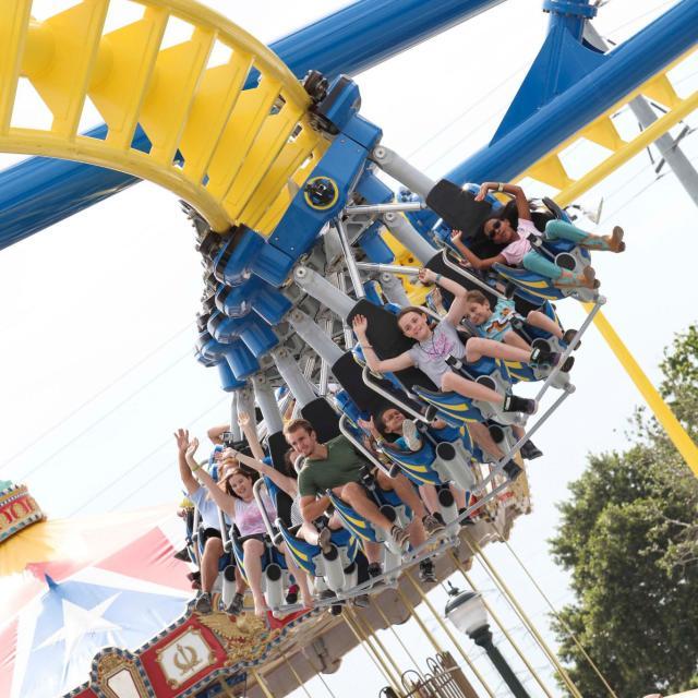 Fun Spot America Orlando people on a rollercoaster ride
