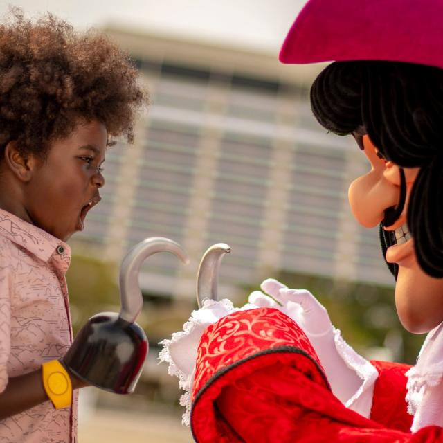 Captain Hook character at Disney's Beach Club Resort