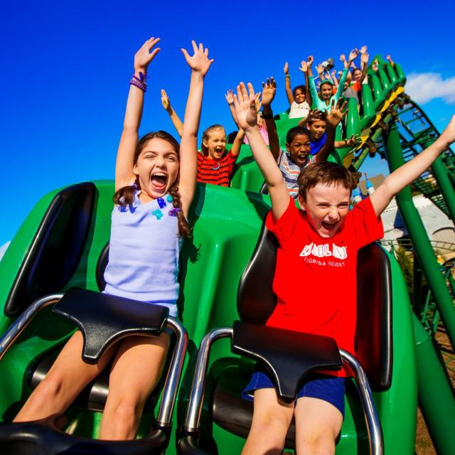 LEGOLAND® Florida Resort children on dragon ride