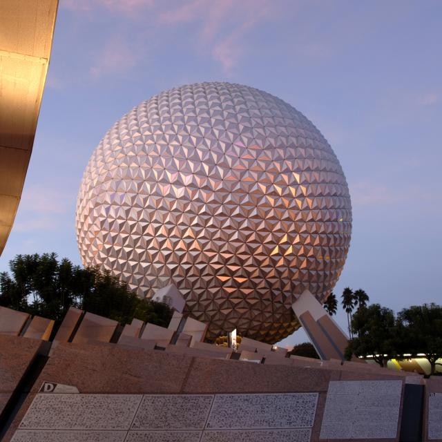 Spaceship Earth attraction at Epcot in Walt Disney World