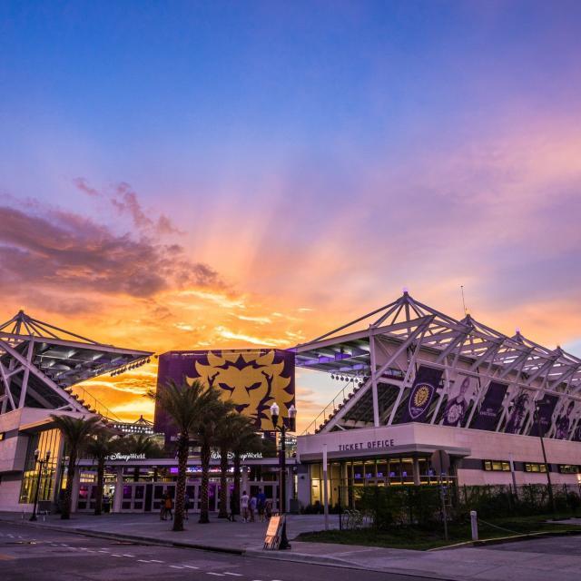 Orlando City Soccer Club stadium entrance