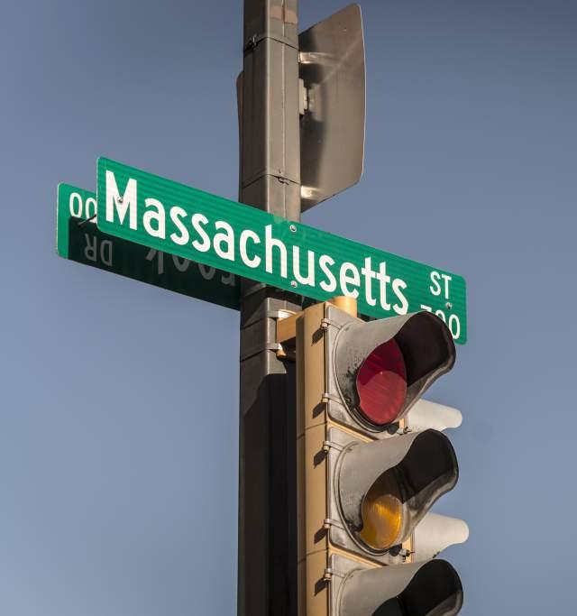 Massachusetts Street in Lawrence Kansas