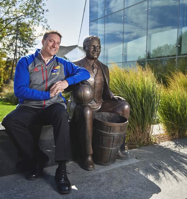 James Naismith statue in Lawrence Kansas