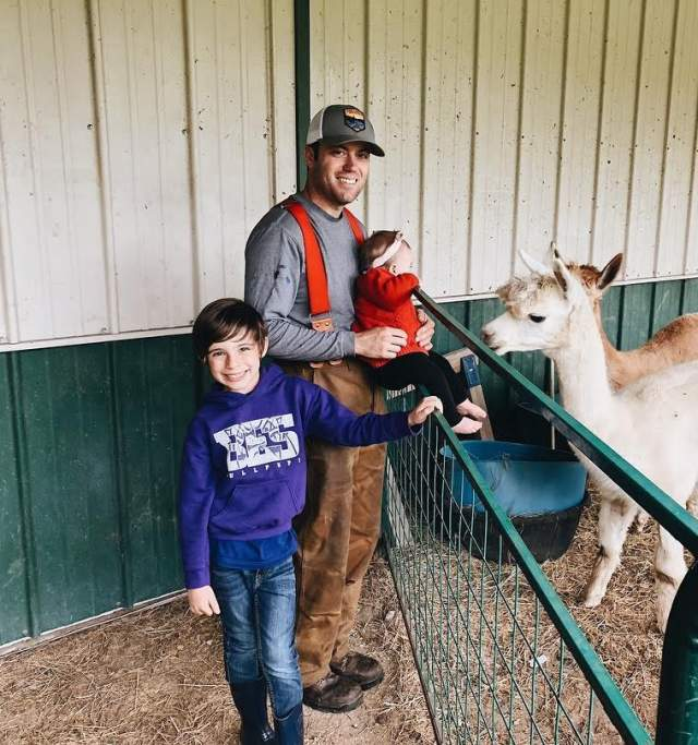 Family at Ad Astra Alpaca Farm