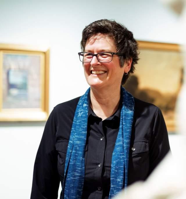 Lisa Grossman at the Spencer Museum of Art in Lawrence Kansas