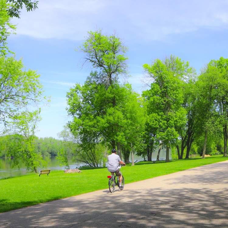 Lots of biking trails run through and around Grand Rapids.