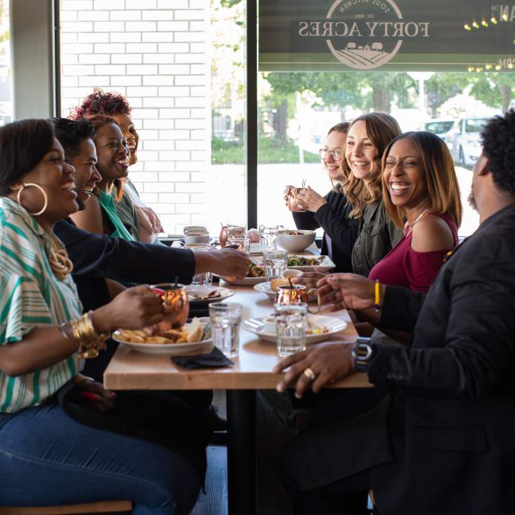 Forty Acres is known for its creative dishes, modern design, and homage to our nation's history, especially the history of African Americans.