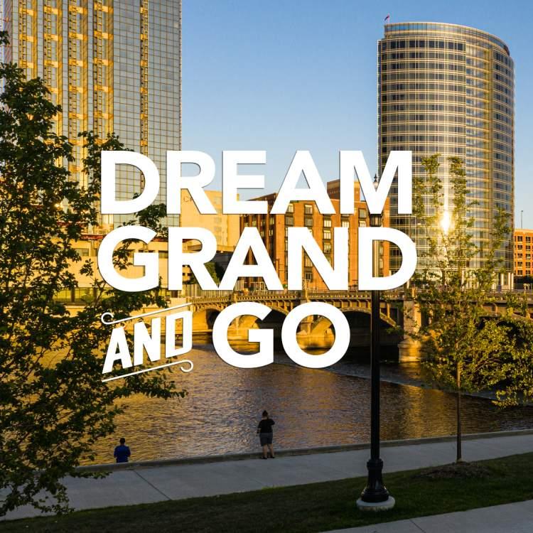 Dream Grand and Go - Fall Grand Rapids Skyline
