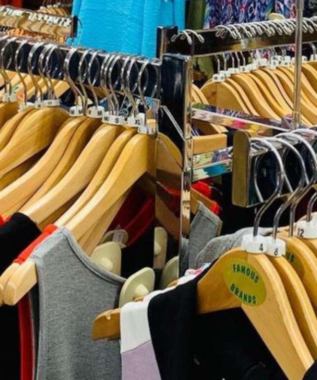 Racks at Famous Brands