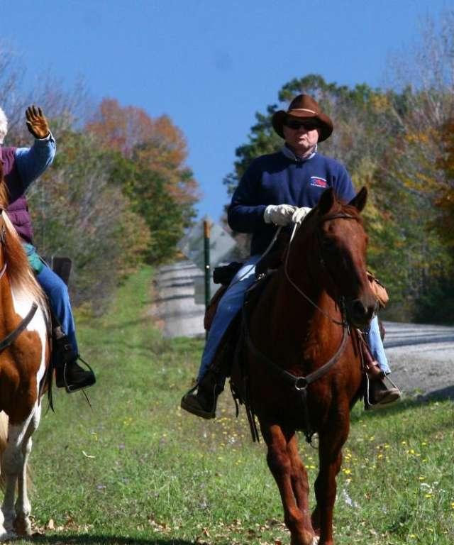 Couple on Horses