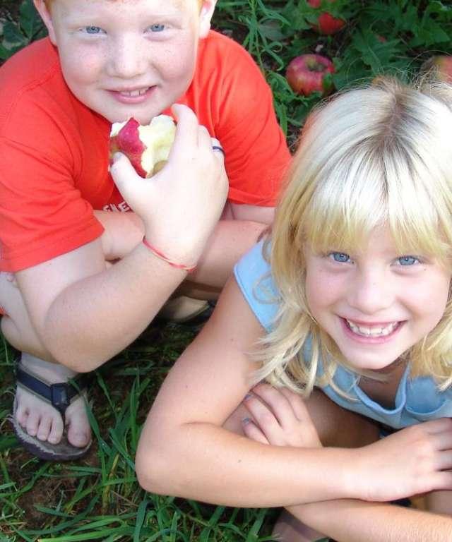 Children in Orchard