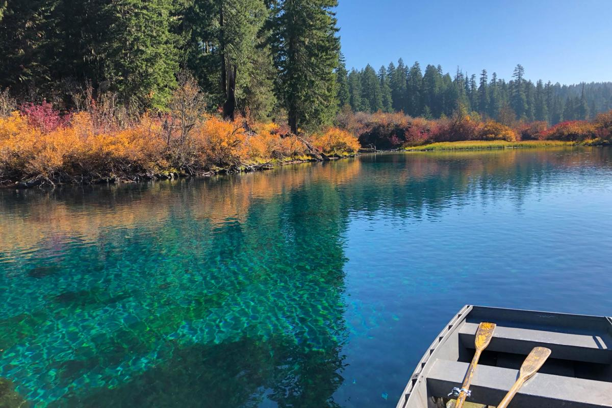 Clear Lake in the Fall by Melanie Griffin