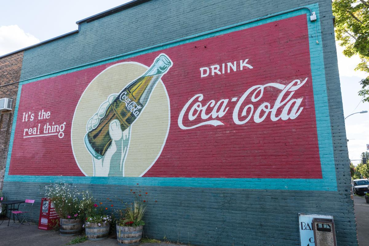 """""""Drink Coca Cola It's the Real Thing"""" Mural by Joni Kabana"""