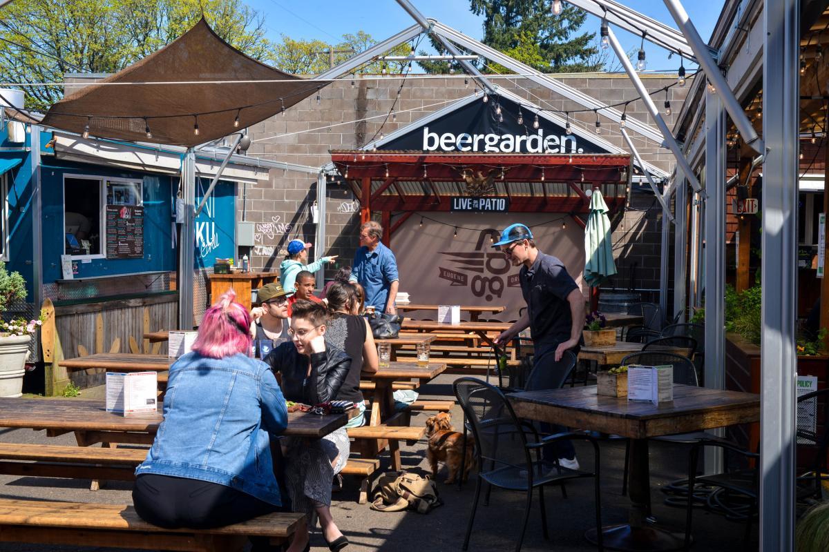 Beergarden patio by Melanie Griffin