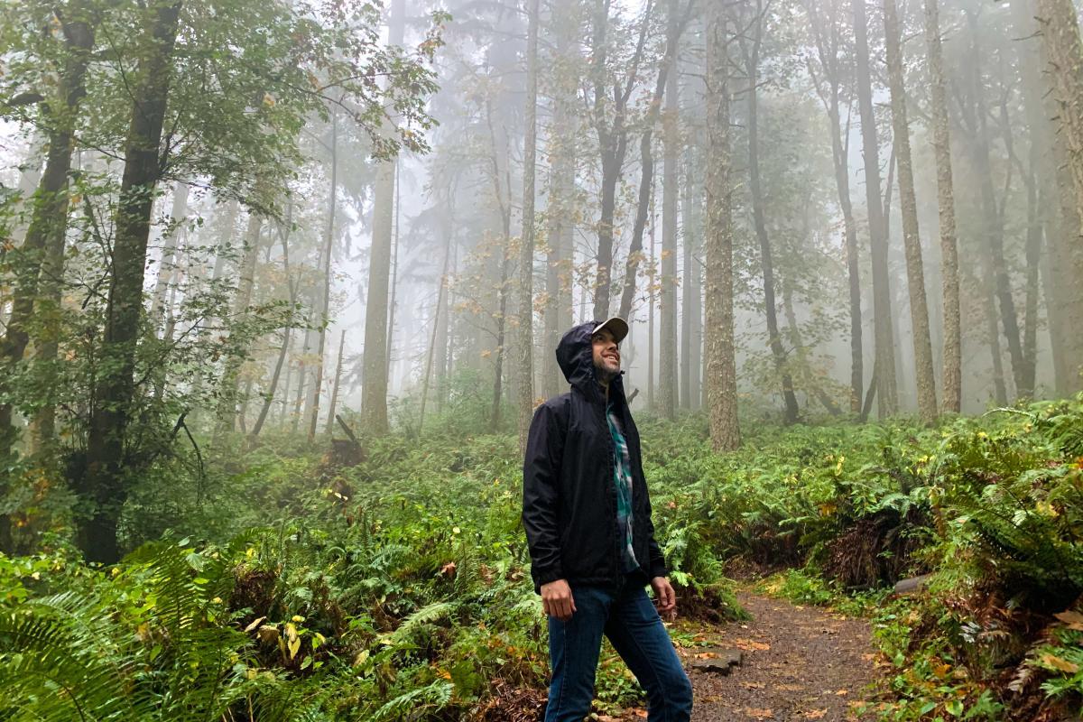 Rainy Hike on the Ridgeline Trail by Melanie Griffin