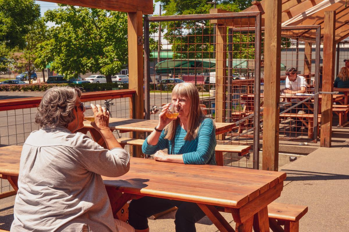 Wildcraft Cider Works patio by Melanie Griffin