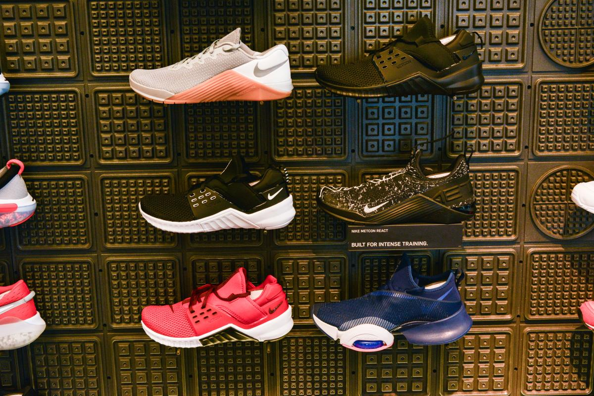 Running Shoes at the Nike Store by Melanie Griffin