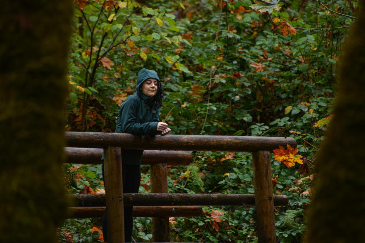 Hiking on the Ridgeline Trail by Melanie Griffin