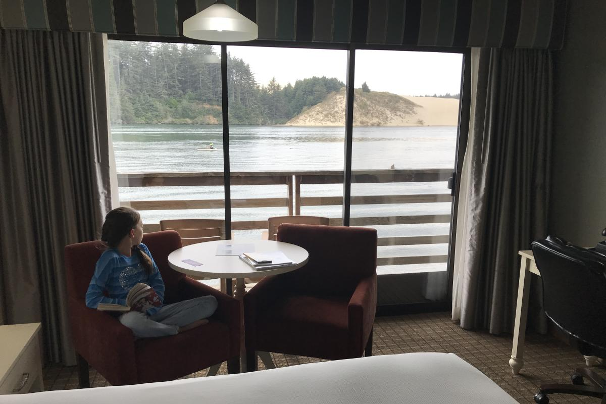 Siuslaw River View From River House hotel in Florence by Taj Morgan