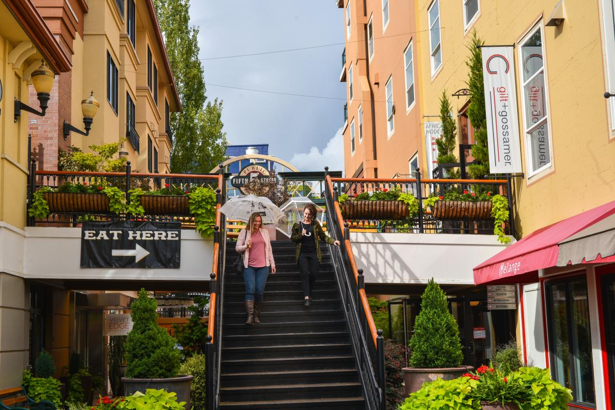 Rainy Day at Fifth Street Public Market by Melanie Griffin