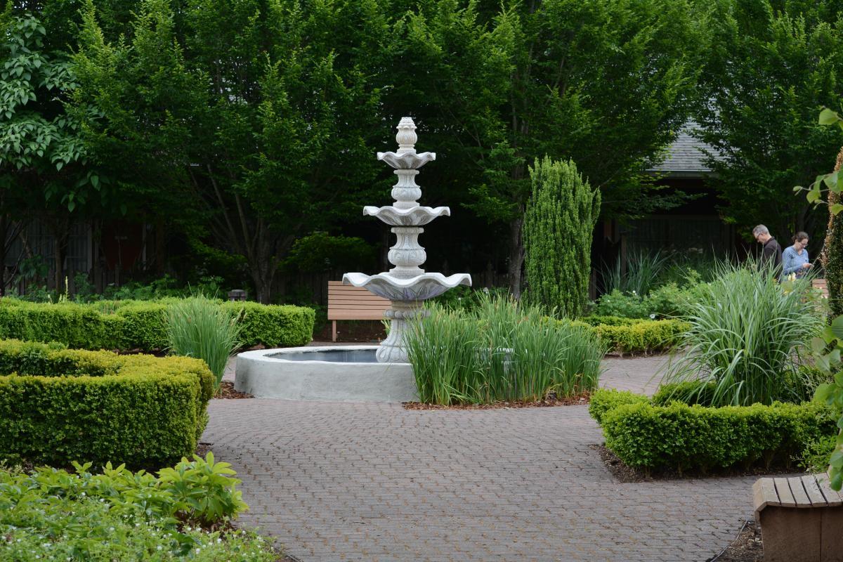 The Village Green gardens by Colin Morton