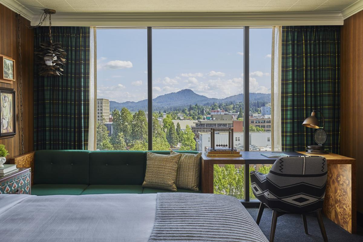 View of Spencer Butte from the Graduate Eugene Hotel by Christian Horan
