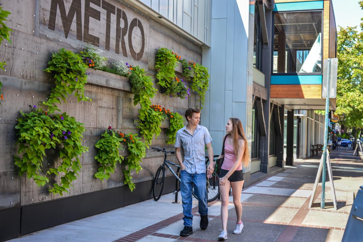 Downtown Eugene at the Metro in Summer by Melanie Griffin