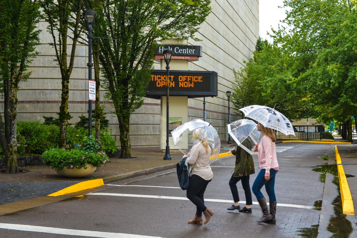 Rainy Day at Hult Center by Melanie Griffin