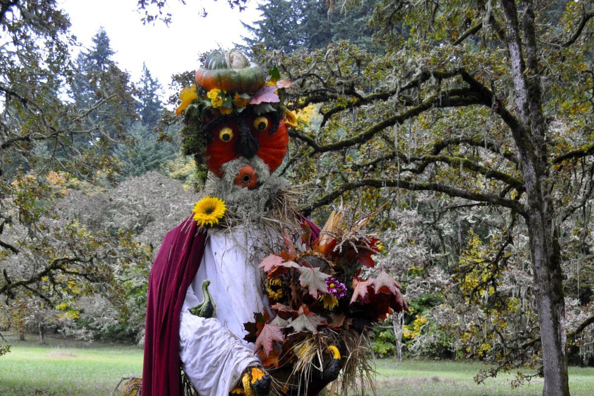 Scarecrow at Mount Pisgah Mushroom Festival by Caroline Harben