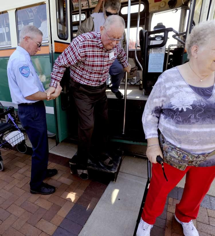 Senior Group exiting the Streetcar